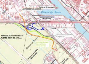Habrá dos conexiones provisionales del Puerto de Sevilla con la SE-30 y la SE-40