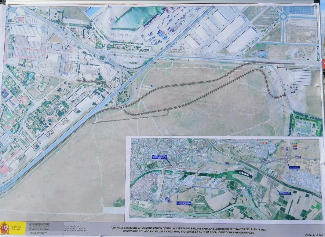 Fomento inicia la ejecución de la conexión del Puerto de Sevilla con la SE-30, previa a la reparación del puente del Centenario