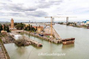 Astilleros del Guadalquivir cumple 5 años desde que se reactivó el dique seco