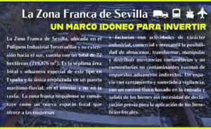 Zona Franca de Sevilla, una oportunidad de crecimiento económico para todas las empresas que se ubiquen en su ámbito.