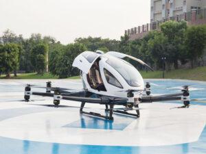 eHang el «taxi volador» llega a Sevilla