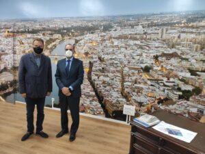 El consejero delegado de la empresa TRH visita al delegado de la Zona Franca de Sevilla