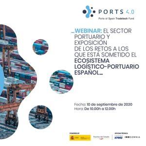 Webinar Ports 4.0: el Sector Portuario español y los retos a los que está sometido el ecosistema logístico- portuario
